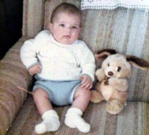Me at 6 Months Old With My Teddy