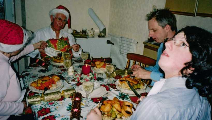 Christmas Dinner Early 2000s